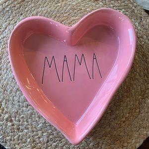 """Rae Dunn Pink """"Mama""""keepsake Heart Tray/Dish NWT"""